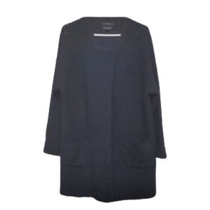 TAHARI Navy Merino Wool Cardigan Sweater Size 1x